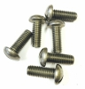 45263-B Stainless Steel 3/8-16 x 1 inch Round Head Slotted Machine Screw 6 Pack