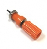 111-0106-001 Orange Banana Jack Insulated Binding Post